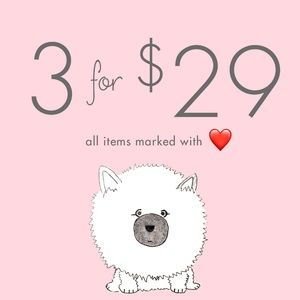 SALE! 3 for $29! All Items Marked with ❤️